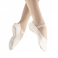 Witte Balletschoenen van Leer met Doorlopende Zool Alista Elite
