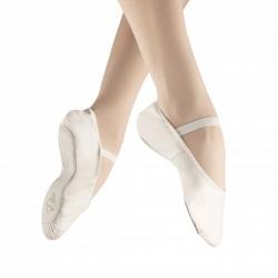 Witte balletschoenen van leer - met doorlopende zool - Alista Dancer Basics Elite