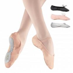 Roze balletschoenen van leer - met doorlopende zool - Alista Dancer Basics Elite