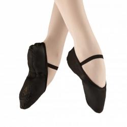 Balletschoenen Zwart van leer - met doorlopende zool - Alista Dancer Basics Elite
