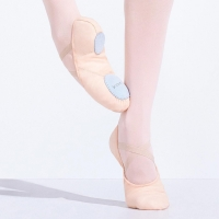 Capezio Juliet Canvas zalmroze balletschoenen van canvas
