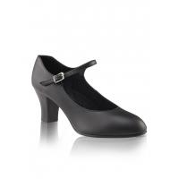 Capezio 650 character dansschoenen Student Footlight zwart 5cm hak
