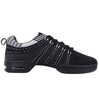 Supadance 8002 Zwarte Lichte Trainingssneaker met Splitzool