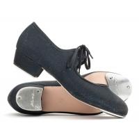 Katz Glitter Tapdans Schoenen voor dames zwart met vetertje