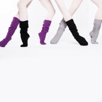 Russian Pointe Fleece Warm-Up zachte sokken voor ballerinas met elastiek