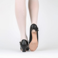 Character dansschoenen zwart Russian Pointe KITRI zool van leer