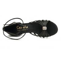 Sansha Penelope Zwarte Latin Schoenen met Swarovki steentje