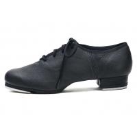 Sansha T-split TA01Lco - zwarte Lederen Tap Dansschoenen met Veters