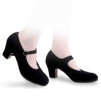 Sansha SEVILLA flamenco leren zool met rubber en nageltjes zwart