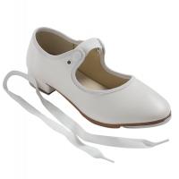So Danca witte dames tap Dansschoenen TA36 met elastiek en strikje