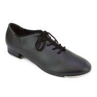 zwarte Tap dansschoenen voor Kinderen met Vetersluiting So Danca TA04
