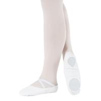 So Danca Balletschoenen BAE17 wit smal model met elastieken kruisbandjes