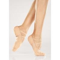 beige nude Heren en jongens Canvas Balletschoenen met Elastische Splitzool So Danca BAE26