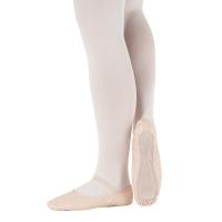 roze leren Balletschoenen suede zool BAE14L kinderen en volwassenen