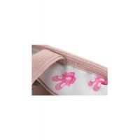 roze meisjes Balletschoen van leer met print aan de binnenkant en elastiekje so danca