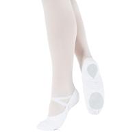 witte Canvas Balletschoenen met Elastische Splitzool So Danca BAE13