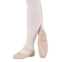 zalm roze So Danca Lederen Balletschoenen met Splitzool BAE17 smaller voeten